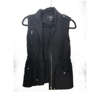 Black vest jacket from H&M